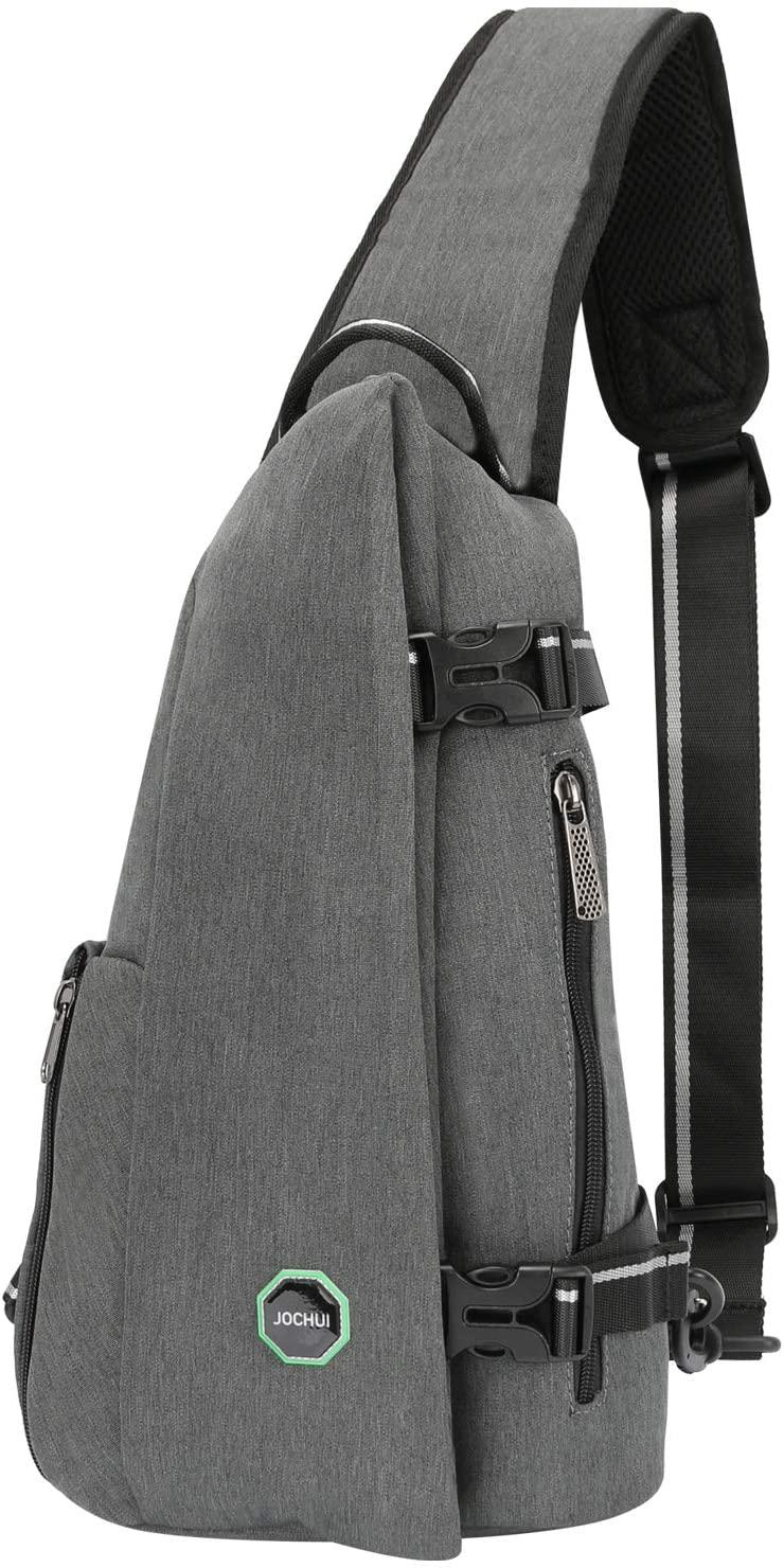 JOCHUI Sling Backpack Sling Pack Crossbody Backpack Travel Multipurpose Daypacks for Men Women Lady Girl Teens Light Gray