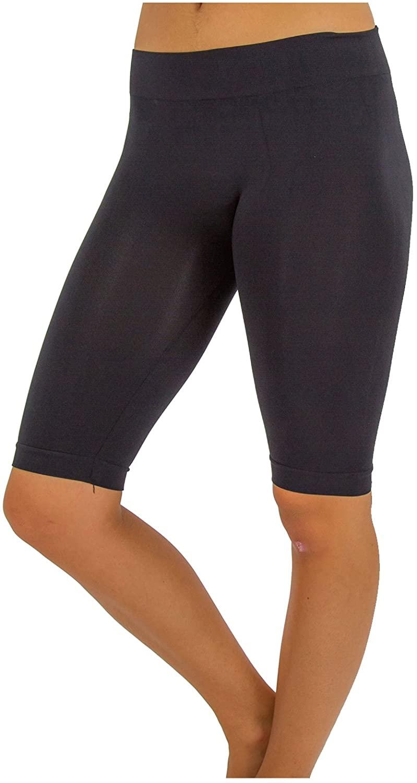 TD Women's Comfy Bike Yoga Short Legging Bermuda (S-M, Black)