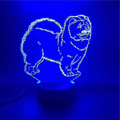 XUIHSA Night Lights for Kids - 3D Night Lamps 7 Colors Changeable nightlight with Timer Best Birthday Gifts for Boys Girls Baby Cracked Cool Base Crack Effect Cute Poodle