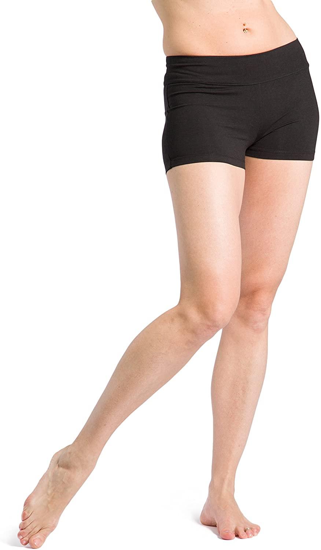 Fishers Finery Womens Ecofabric 2 Yoga Dance Running Short