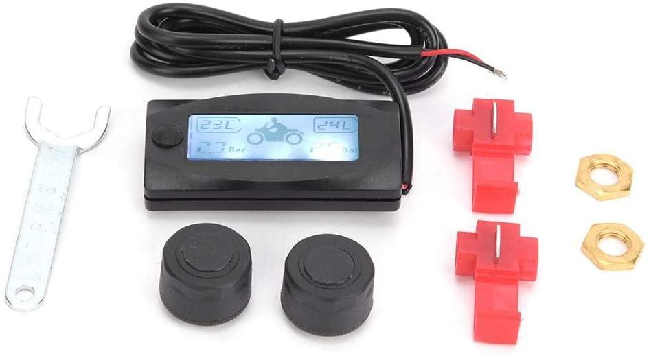 Tire Pressure,Motorcycle Plastic Multifunction Real Time Tire Pressure Monitoring System TPMS for/Yamaha/Kawasaki/Suzuki