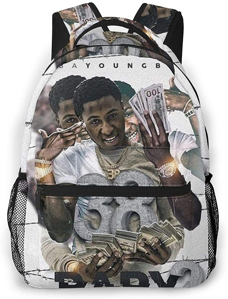 Trumpinginging NBA Youngboy Theme Fashion Men's and Women's Classic Shoulder Casual Backpack