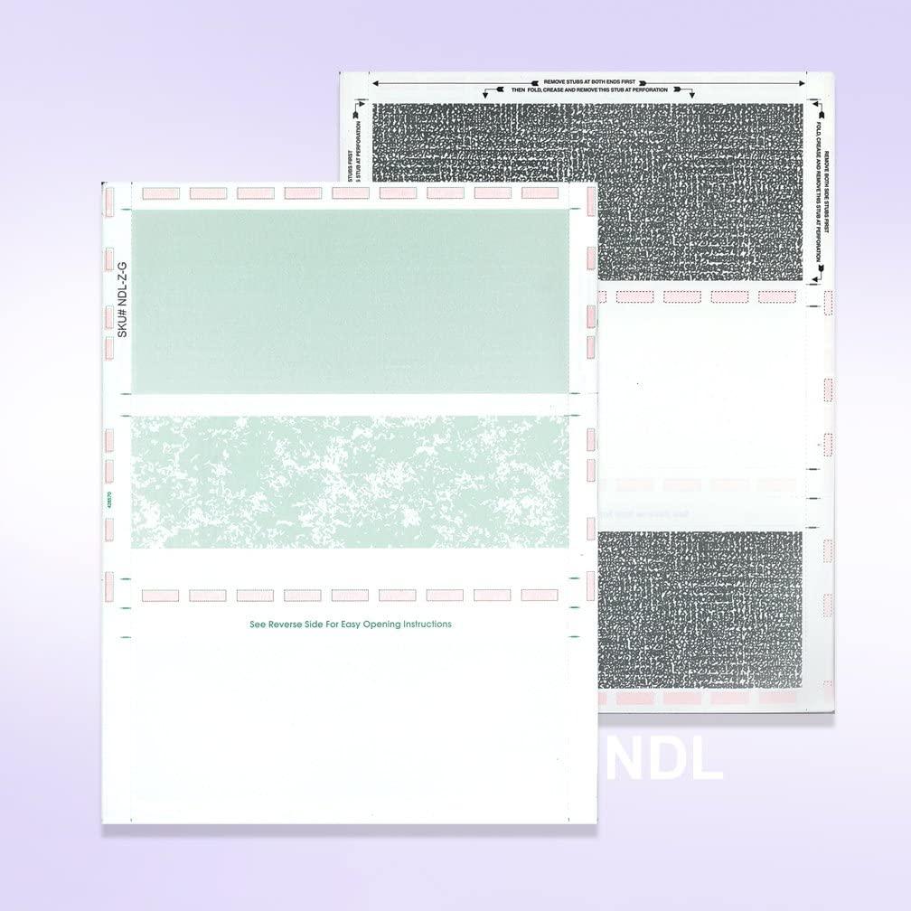 Pressure Seal Self Mailer Checks (Green-250)