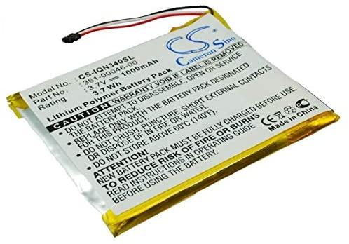 Replacement Battery for Garmin Nuvi 3400 Nuvi 3450 Nuvi 3450LM Nuvi 3450M 361-00046-00
