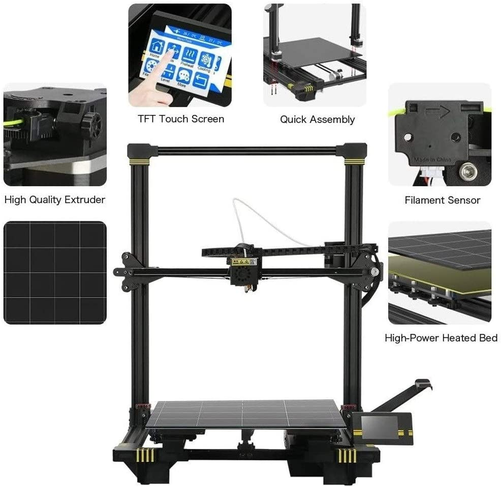 TiandaoMXL Auto Leveling 3D Printer with Heatbed Huge Build Volume 15.75 X 15.75 X 17.72 Inch(400X400X450Mm)
