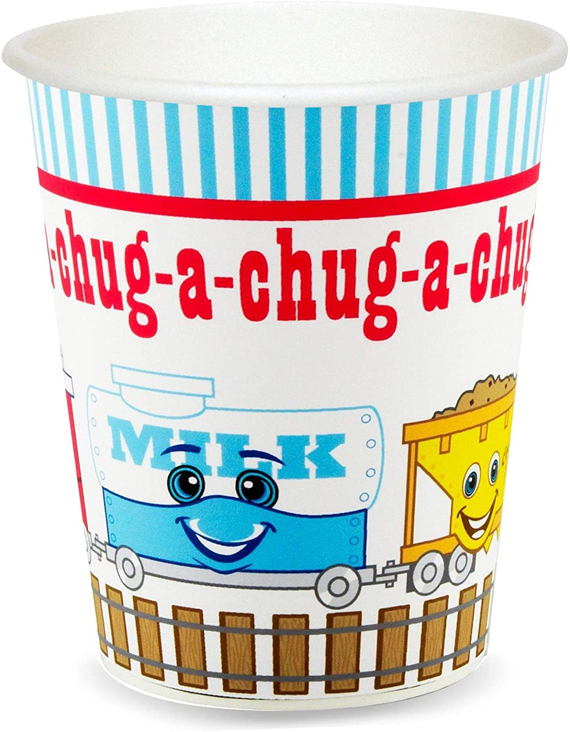2nd Birthday Train Party Supplies - 9 oz. Cups (8)