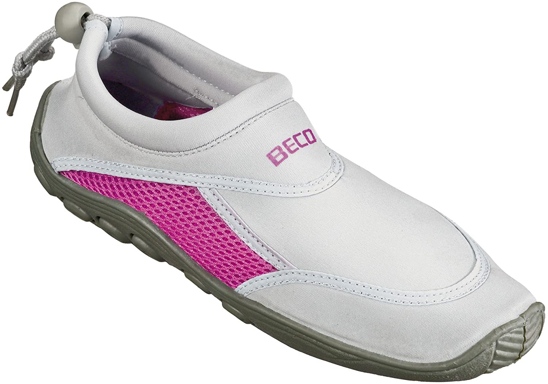 Beco Unisexs Bathing Tideland Beach Aqua Surfing Shoes, Gray/Pink, Size 40