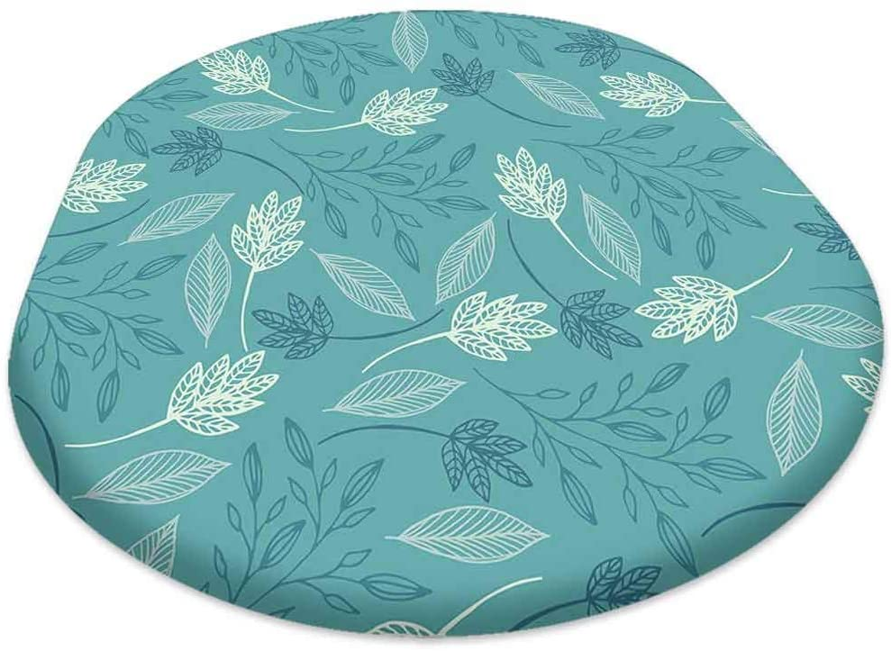 oobon Oval Picnic Folding Table Cover, Floral Pattern, for Spring/Summer/Party/Picnic, 60x120 inch