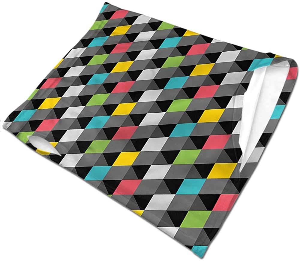Face Bandanas Geometric,Abstract Art Style Seamless UV Protection