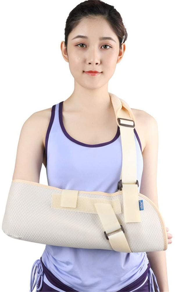 YXIUER Arm Sling - Medical Orthopedic Arm Sling Shoulder Immobilizer Rotator Cuff Wrist Elbow Forearm Support Brace Strap Lightweight,Available for Women and Men, Left Or Right Arm,S