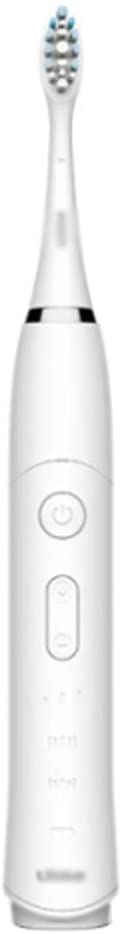 Rechargeable Sonic Electric Toothbrush, 2 Minutes Timer, Portable Waterproof, Adults (White),White