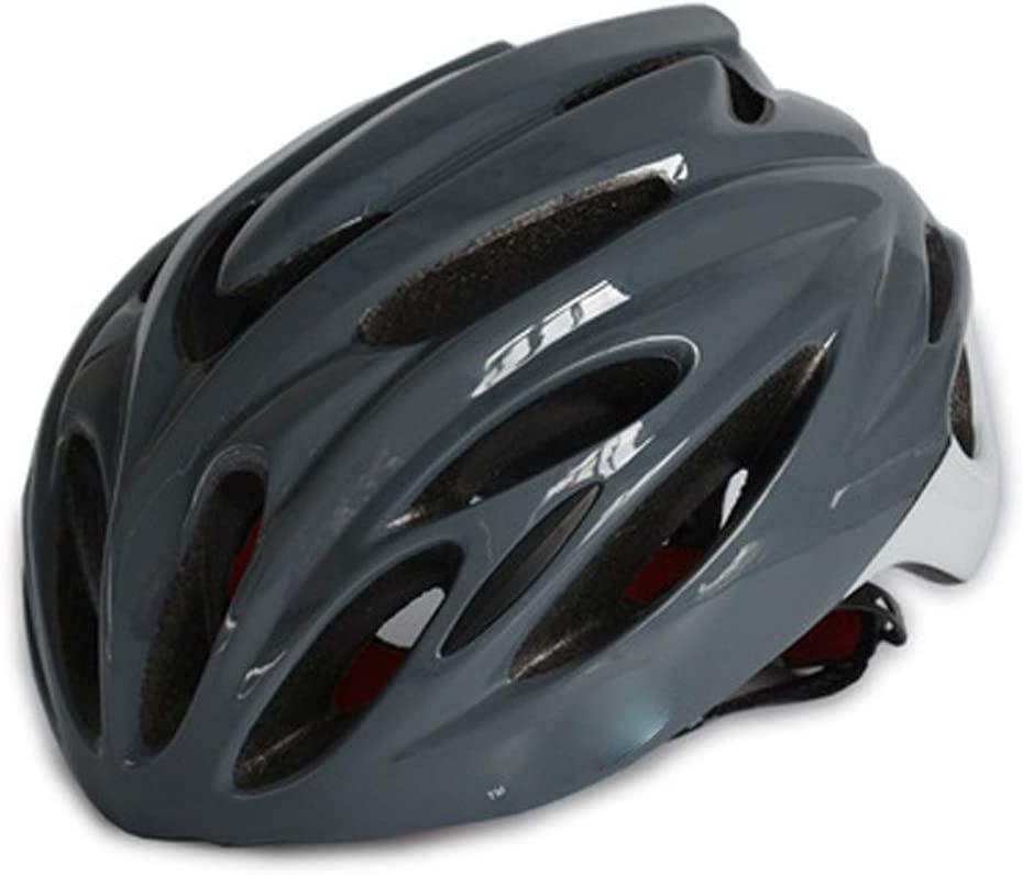 Bicycle Riding Helmet, Bicycle Helmet, one-Piece Riding Helmet, Bicycle Equipment Helmet, Mountain Bike Helmet-Gray-L(56-61cm)