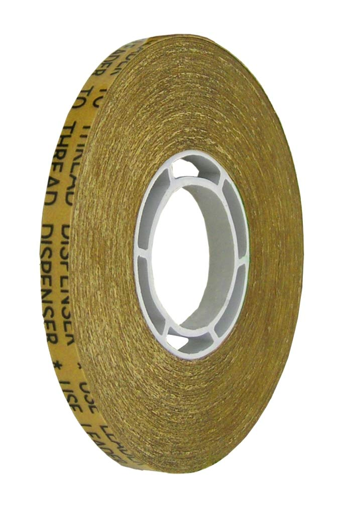ALLTAPESDEPOT ATG TRANSFER GUN DOUBLE SIDE REFILL TAPES, REVERSE WOUND ADHESIVE TRANSFER TAPE ACID FREE GOLD PAPER LINER ATG-7502, 1/4 x 36yd (33m) x pack of 24