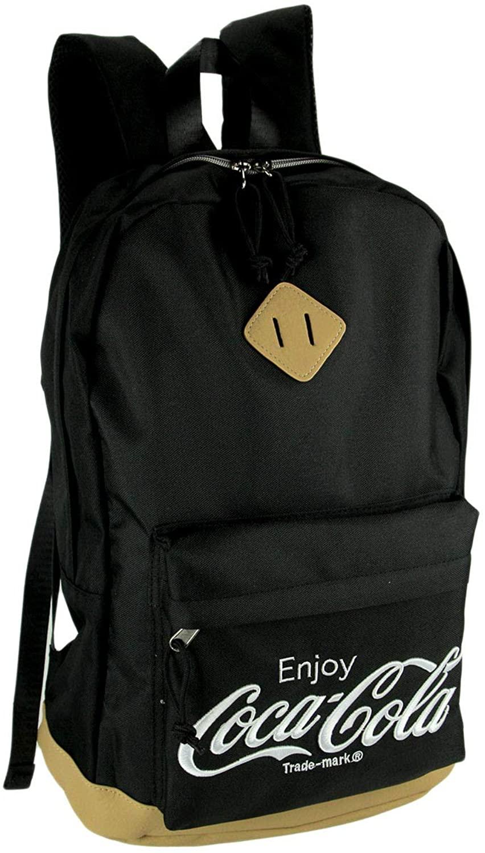 Coca-Cola Logo Black Canvas Backpack