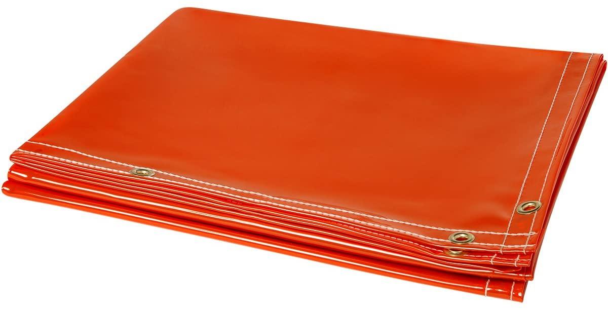 Steiner 348-6X10 ArcView 4 Mil Flame Retardant Tinted Transparent Heavy Duty Vinyl Welding Curtain, Orange, 6' x 10'
