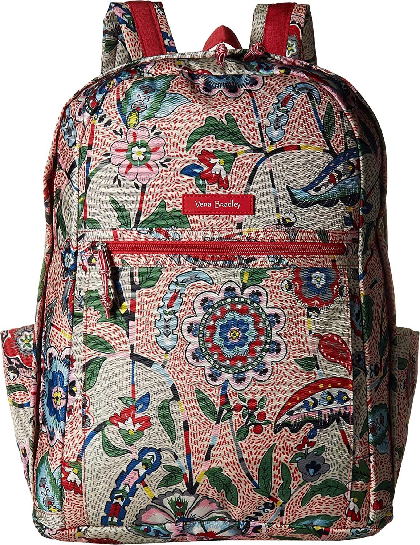 Vera Bradley Lighten Up Grand Backpack Stitched Garden One Size