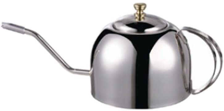 Cozyle Stainless Steel Long Mouth Teapot Coffee Maker Silver 40oz