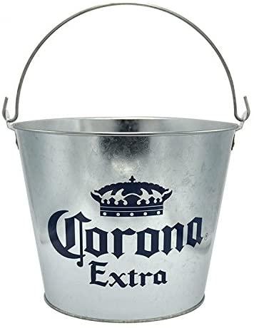 Corona Extra - Galvanized Metal Beer Bottle Bucket with Handle