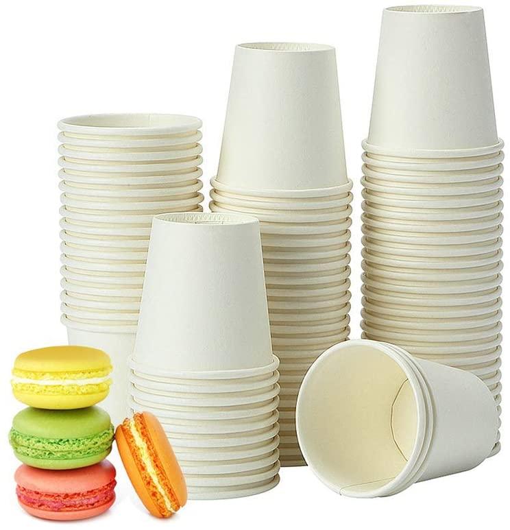 TashiLiving Disposable Paper Coffee Espresso Nespresso, Lavazza-White, Condiment/Tasting/Sample Cups, 4 Ounce