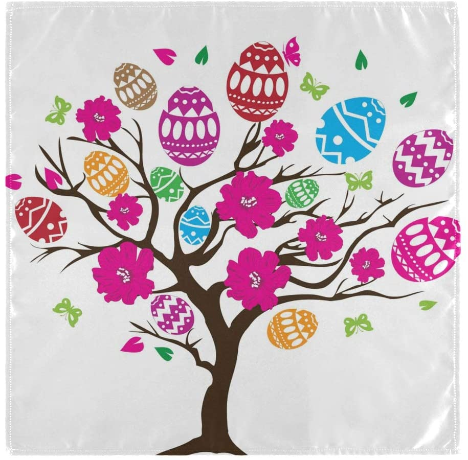 CaTaKu Tree of Easter Egg Napkin Cocktail Napkins, Happy Easter Napkins Table Dinner Napkin Washable Reusable Luncheon Napkin for Party Home kitchen Decoratifor, 20