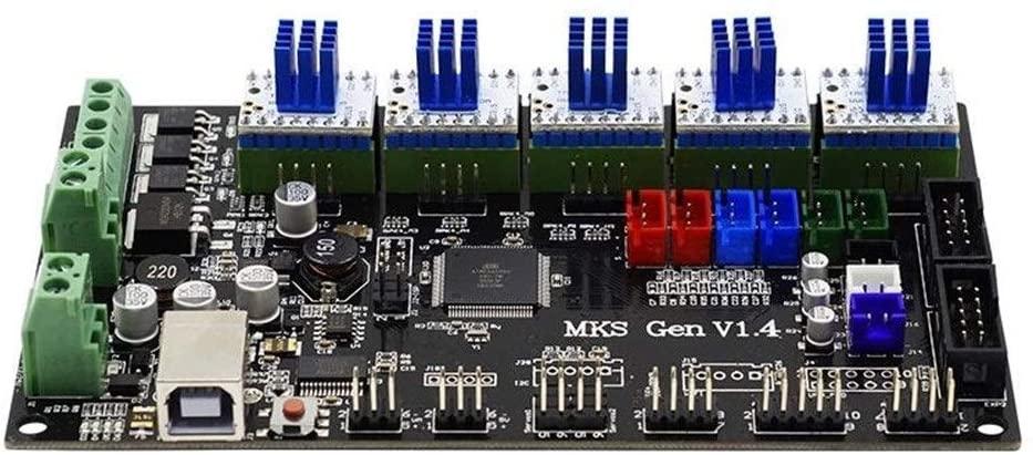 LL-LL MKS-GEN Integrated Controller Mainboard V1.4 + 5pcs TMC2130 V1.0 Stepper Motor Driver Compatible Ramps1.4/Mega2560 R3 For 3D Printer Driver Modules Stepper Motor Driver