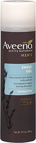 Aveeno Active Naturals Men's Shave Gel, 7 Ounce