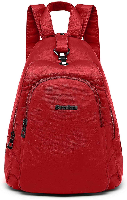 21K Barcelona Backpack Rucksack Soft Vegan PU Leather small Purse, 1639