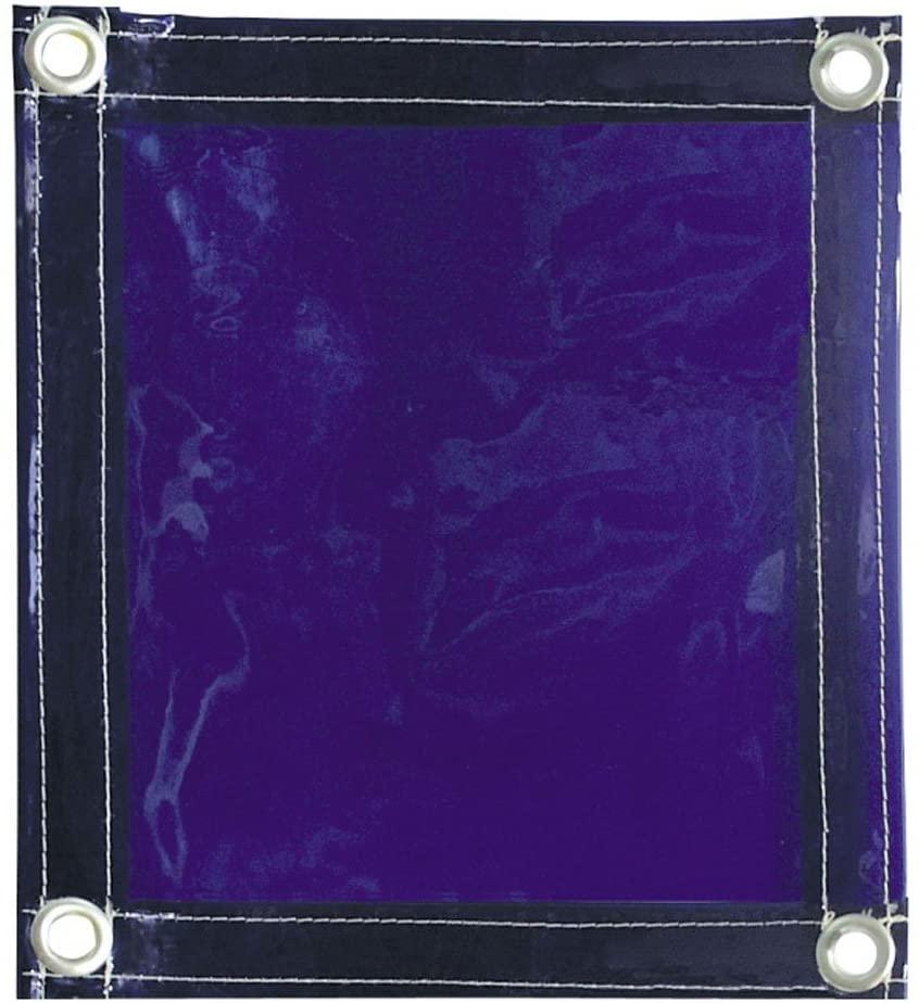 Tillman 604R68 6' X 8' 1 Panel Transparent Blue Vinyl Welding Curtain