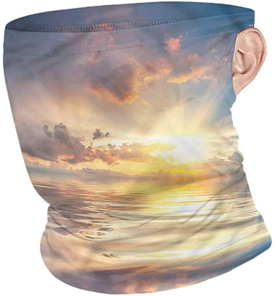 Headband Ocean,Mystic Sunset Sea Reflection Tactical Neck Tubes