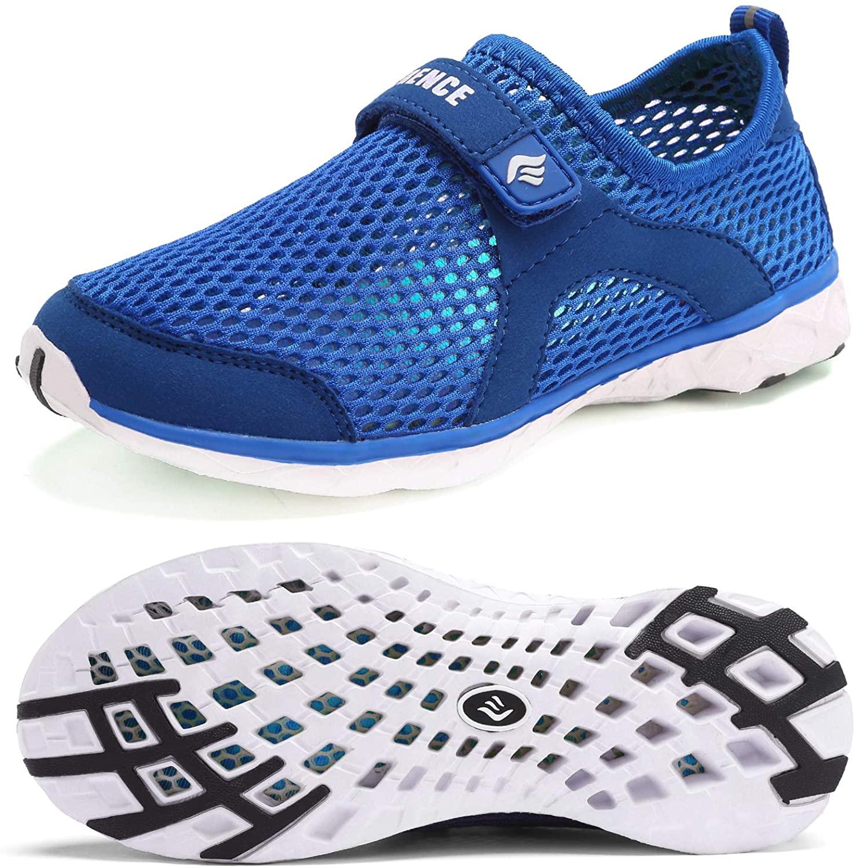 CIOR Boys & Girls Water Shoes Kids Swim Shoes Amphibious Aqua Shoes Sport Sneakers Light Weight Shoes Athletic Shoes for Swimming,Diving,WalkingU118SSXT001C-Blue-35
