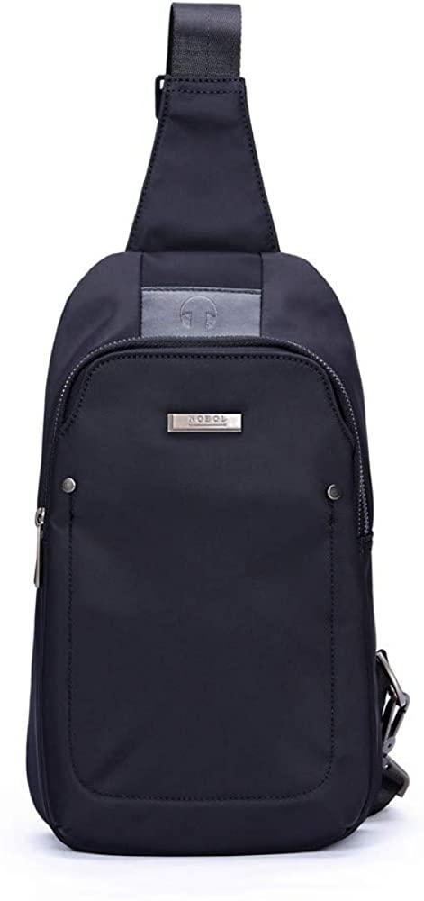 NOBOL Sling Bag Water Resistant Crossbody Chest Backpack Outdoor Cycling Chest Shoulder Travel Fashion Bag Sack Satchel for Men & Women Black