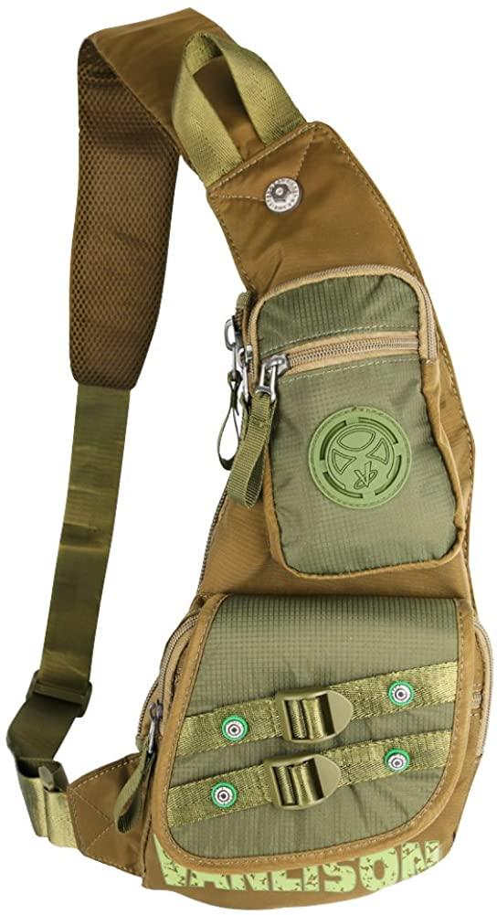 Sling Backpack, Chest Bag, Larswon Nylon Sling Bag Shoulder Bag For Men Women