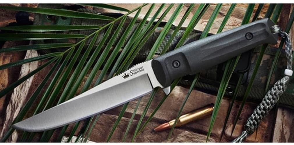Kizlyar KK0010 Croc AUS-8 Russian Made Tactical Knife, Satin