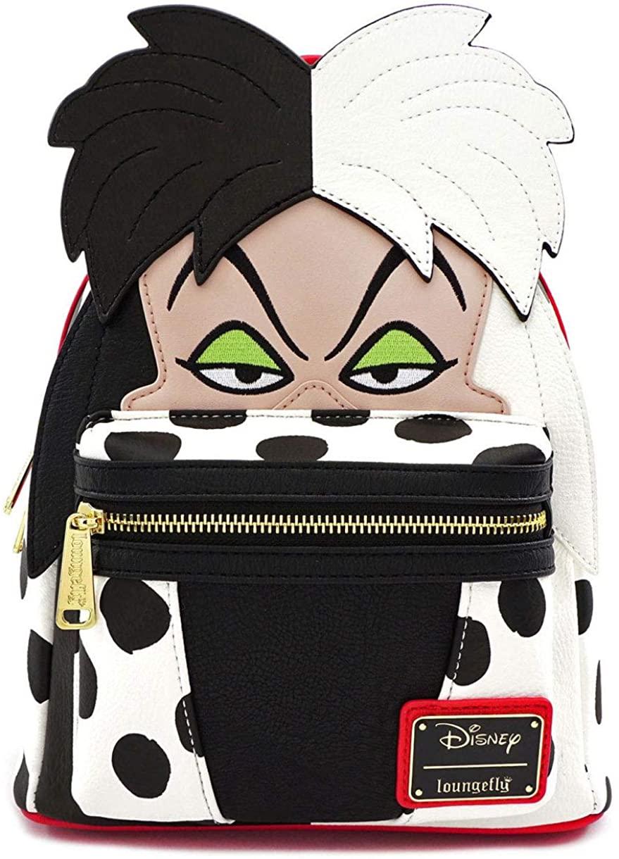 Loungefly Disney Cruella De Vil Cosplay Faux Leather Mini Backpack