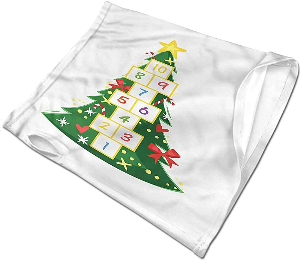 Balaclavas Christmas,Ornamented Pine Tree Dots Cold Weather Face Cover