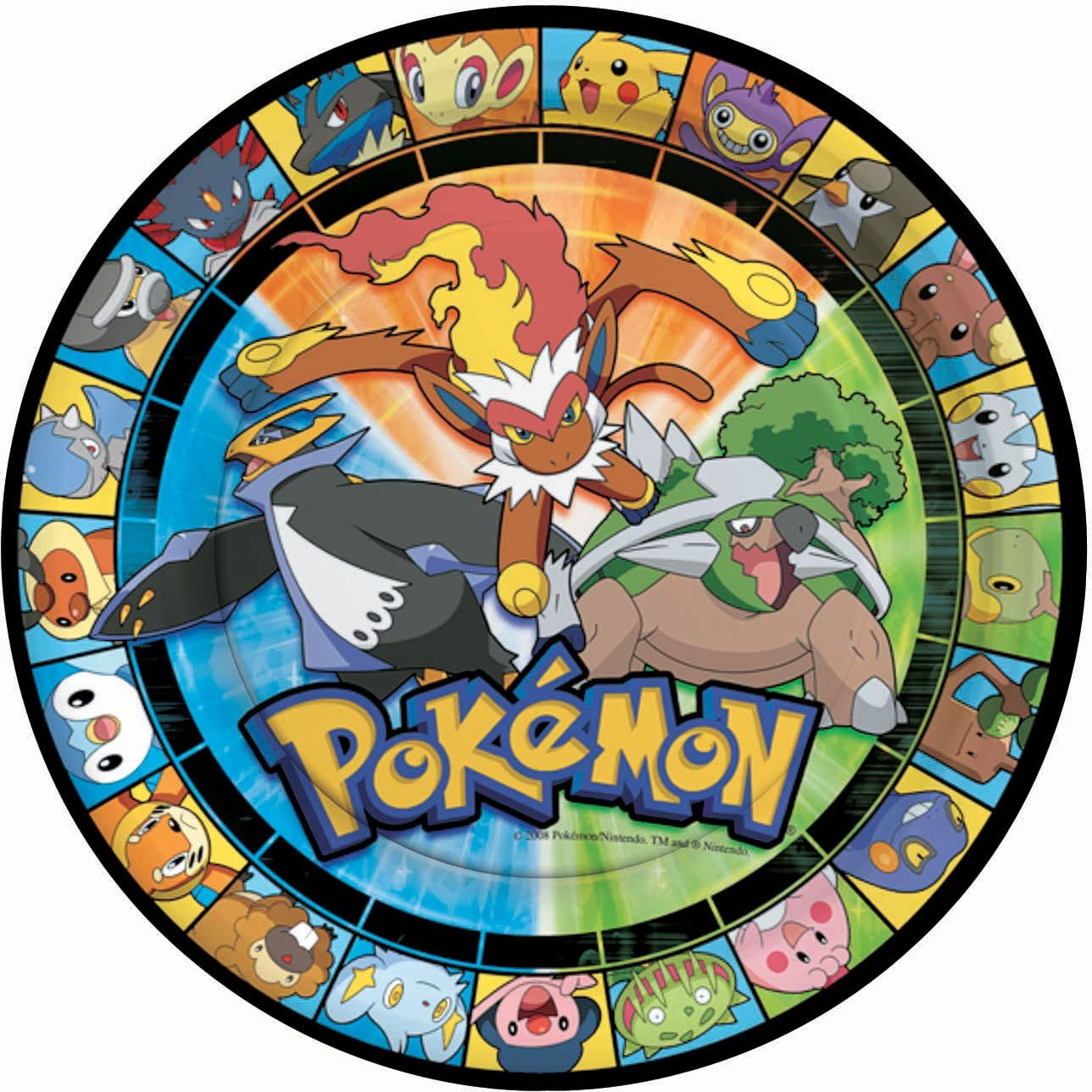 Pokemon Lunch Plates 8ct