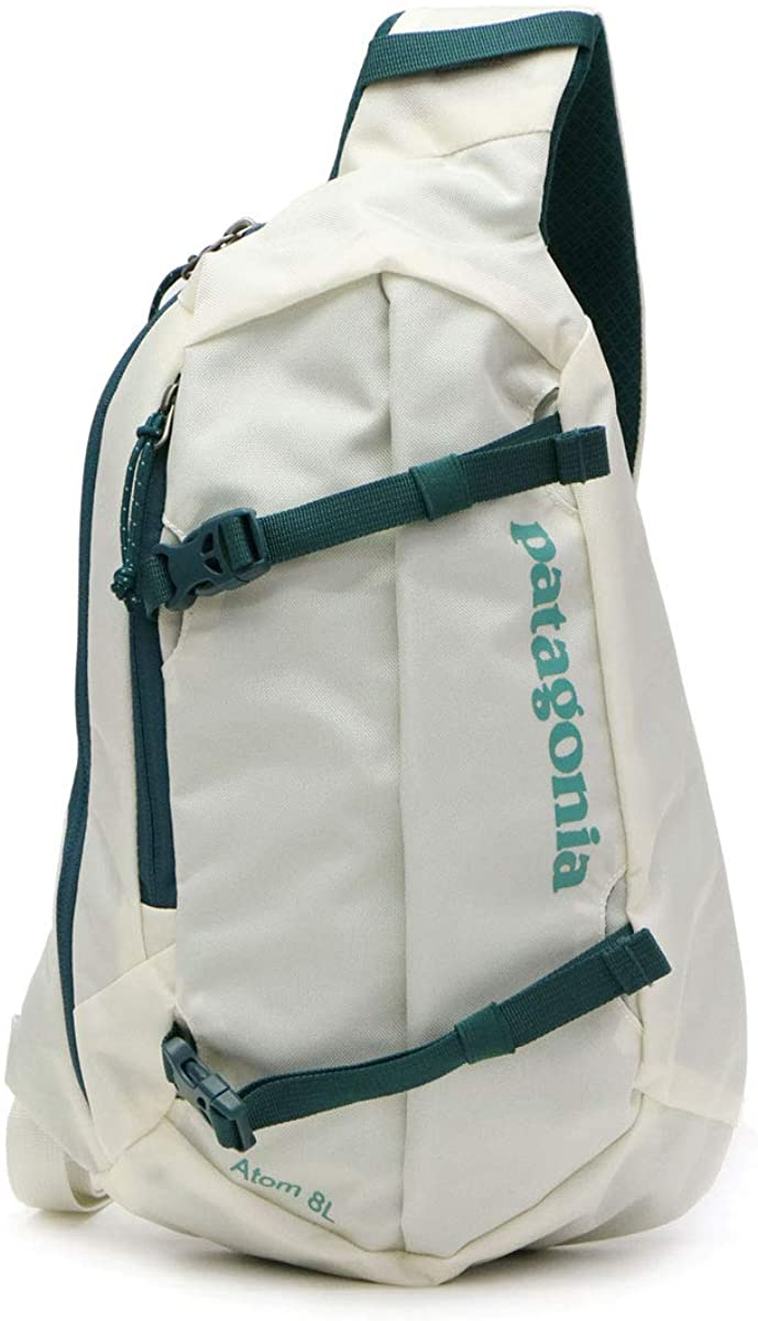 Patagonia Unisex's Atom Sling 8L Backpack, Birch White/Tidal Teal, Regular