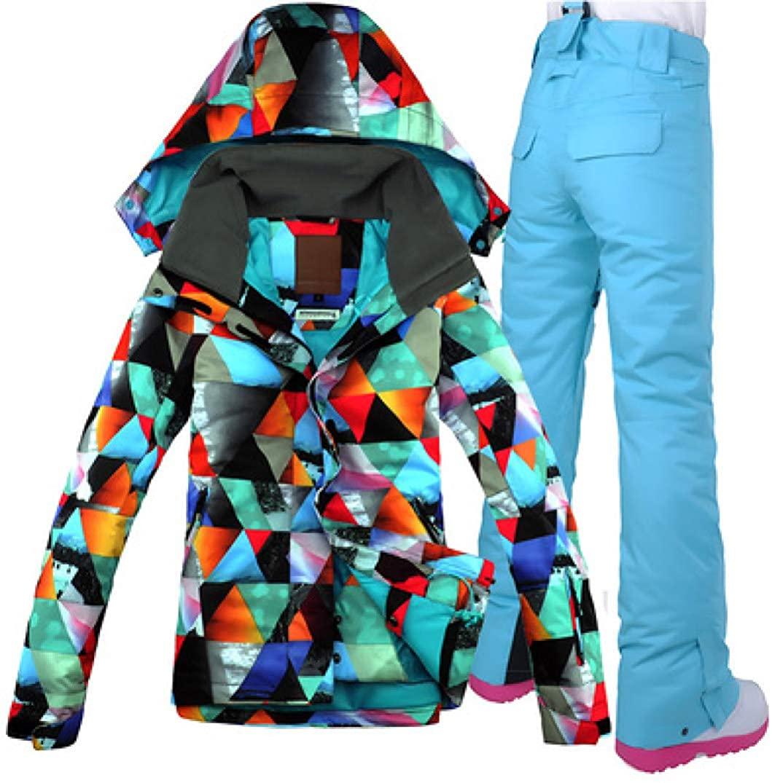 Women Ski Jacket Pant Windproof Waterproof Sport Wear Snowboard Suit Female Winter Clothing Skiing Coat Suit