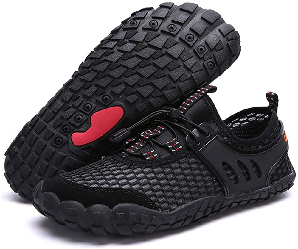 PACJOY Men's Water Shoes Quick Dry Outdoor Barefoot for Swimming Diving Surfing Aqua Sports Pool Beach Walking Yoga