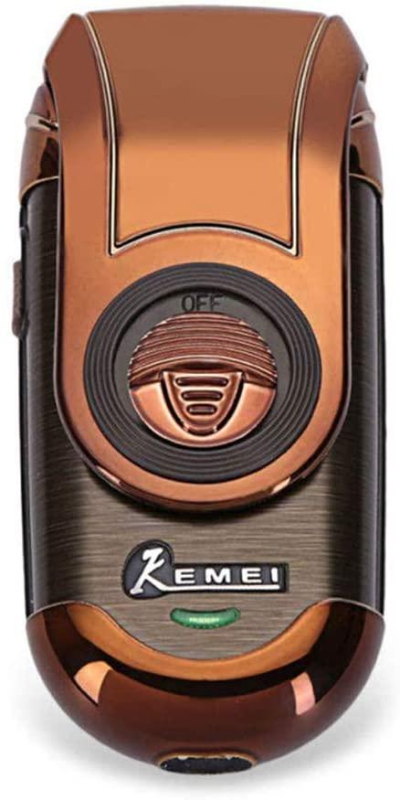 KLI Men's Mini Portable Electric Shaver Reciprocating Rechargeable Electric Razors Cordless Beard Trimmer 3D Floating Blades Foil Travel Shaver,Pop-up Trimmer