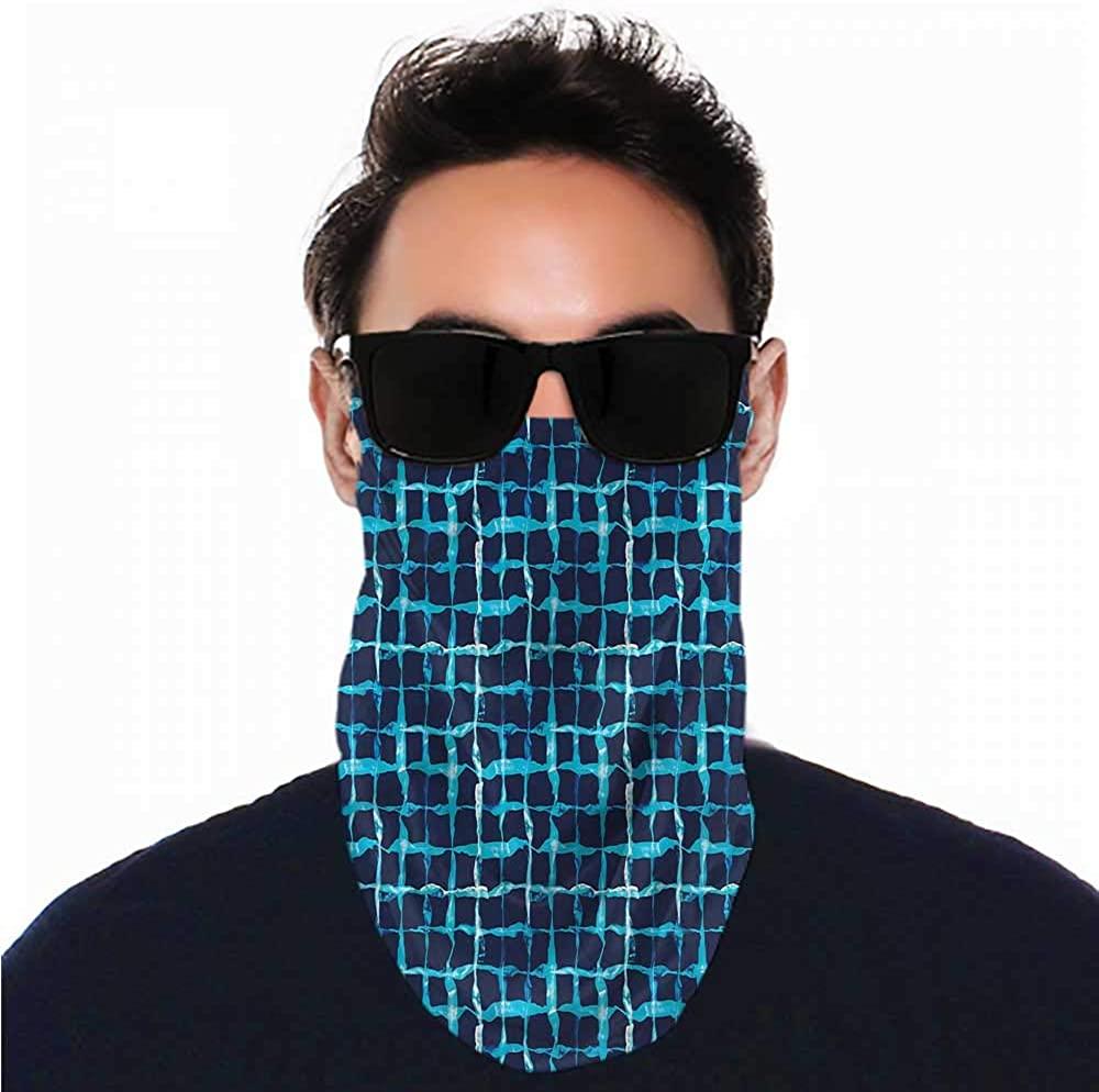 VIVIOTendance Face Cover Indigo,Pool Inspired Design Seamless UV Protection