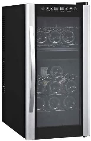 Avanti 18 Bottle Dual Zone Thermoelectric Wine Cooler W/Glass Door/Stainless Steel Handle