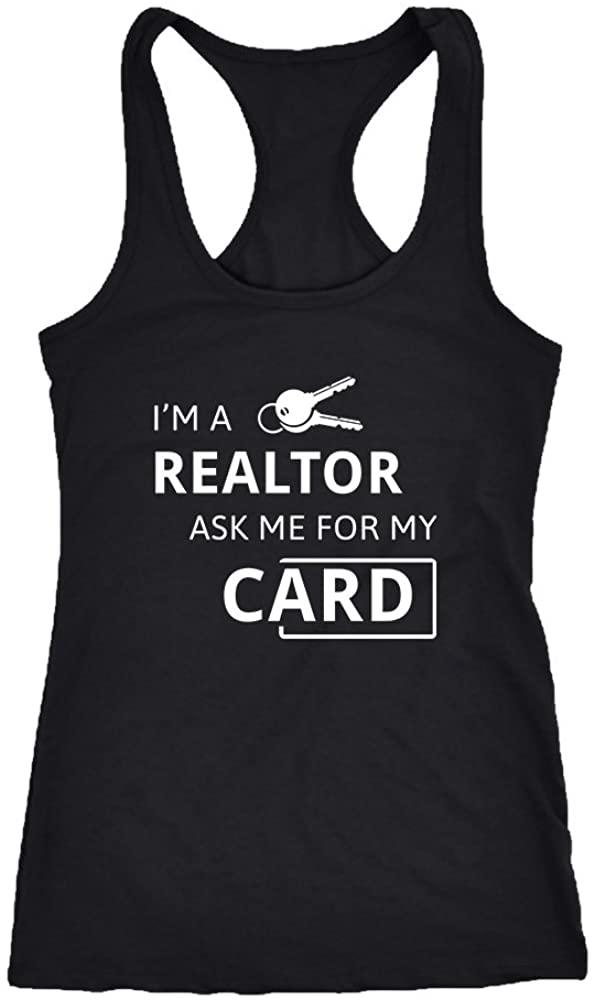 Real estate agent Racerback Tank Top T-Shirt. Funny Real estate agent Tank. Cool Shirt for Real estate agent (XL)