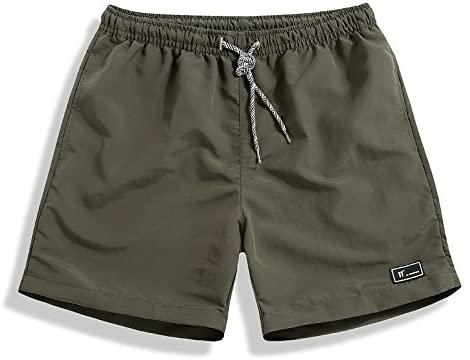 Men's Classic Fit Casual Fleece Jogger Gym Workout Short Pants with Elastic Waist (XXL, Green)