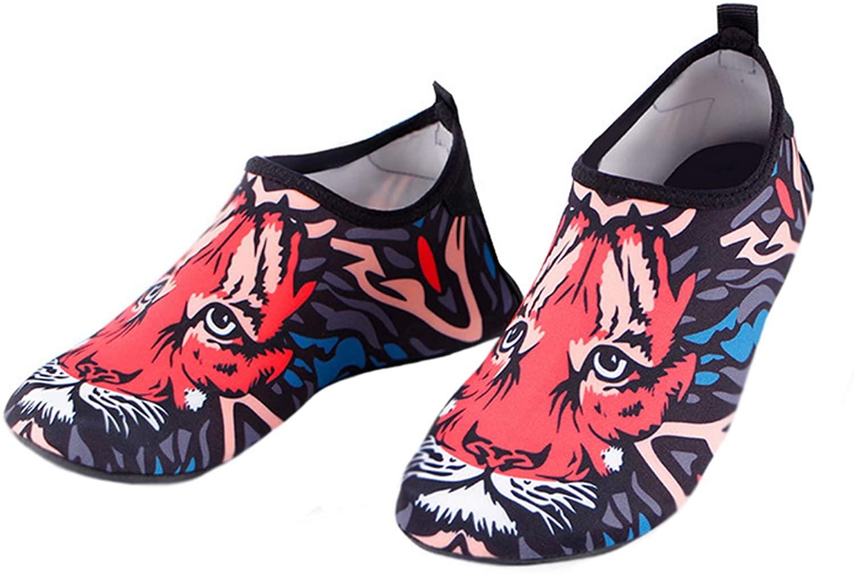 Bestgift Men's Women's Quick-Dry Non-Slip Swimming Beach Shoes Tiger 40-41