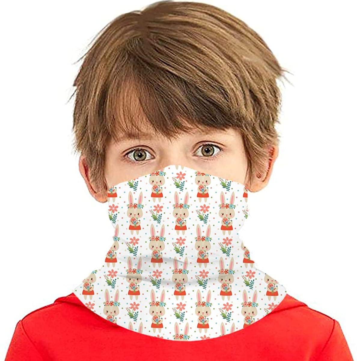 Lovely Childish Wallpaper Neck Gaiter Face Mask Bandana Dust Wind Sun UV Balaclava for Teen Boy Girl Outdoors