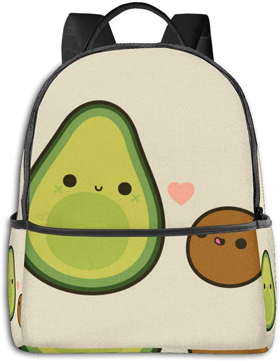 Durable Polyester Rucksacks Cute Avocado Travel and Sport Backpack Rucksack - Big Capacity Anti-Theft Multipurpose Carry-On Bag for Men Women Kids