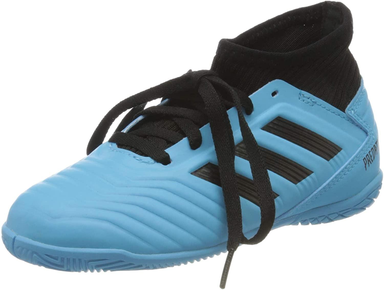 adidas Predator Tango 19.3 in G25807, Kids, Bright Cyan/Core Black/Solar Yellow, 12.5 US