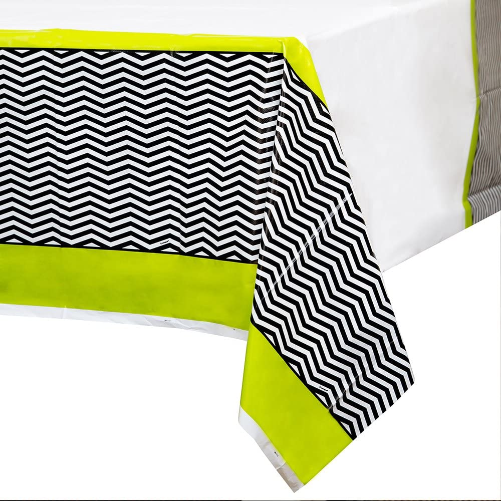 Designer Chevron Plastic Tablecloth, 84
