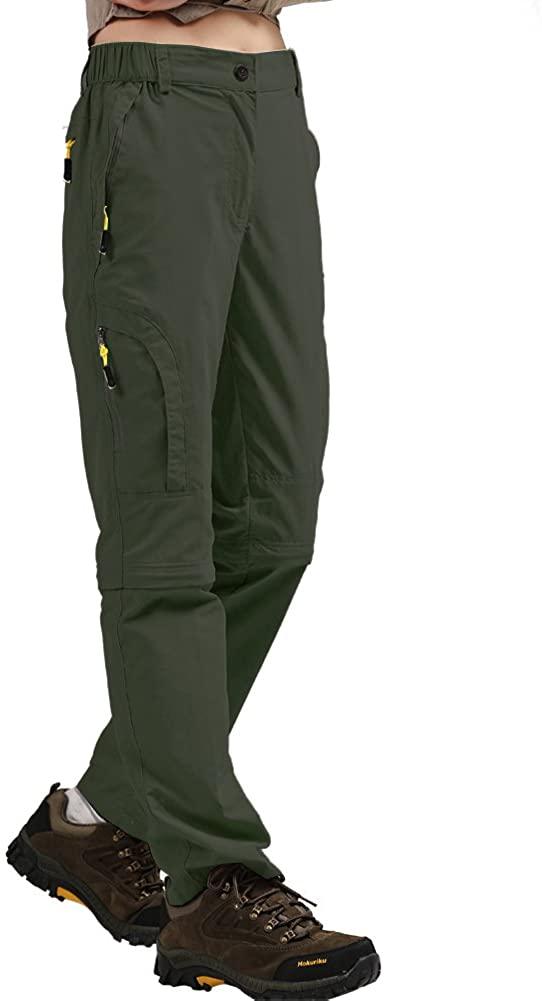 Women's Hiking Pants Quick Dry Convertible Stretch Lightweight Outdoor UPF 40 Fishing Safari Travel Camping Capri Pants